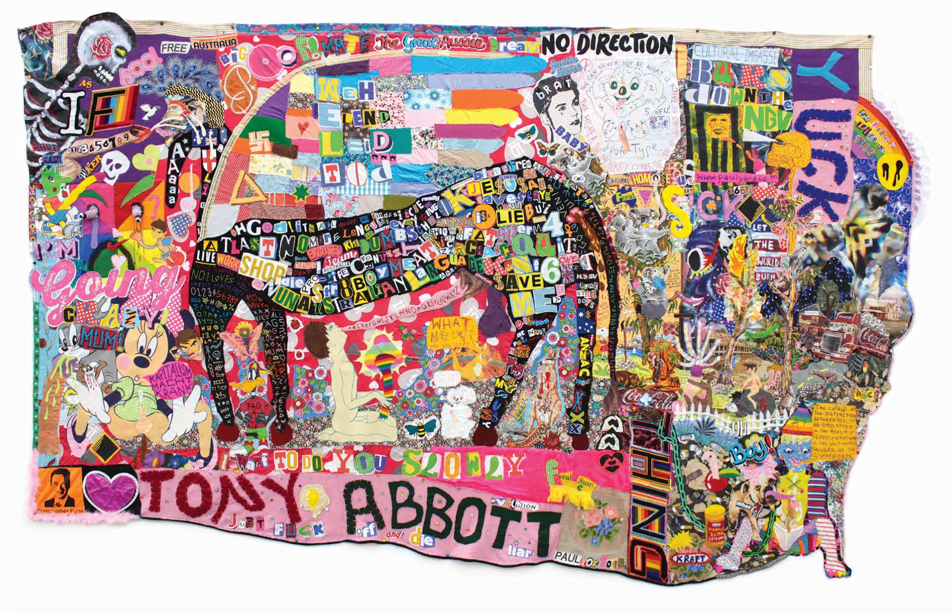 Paul Yore. What a Fucking Horrid Mess 2016. Purchased with Ararat Rural City Council aquisition allocation, 2016. Ararat Gallery TAMA Collection. © the artist.