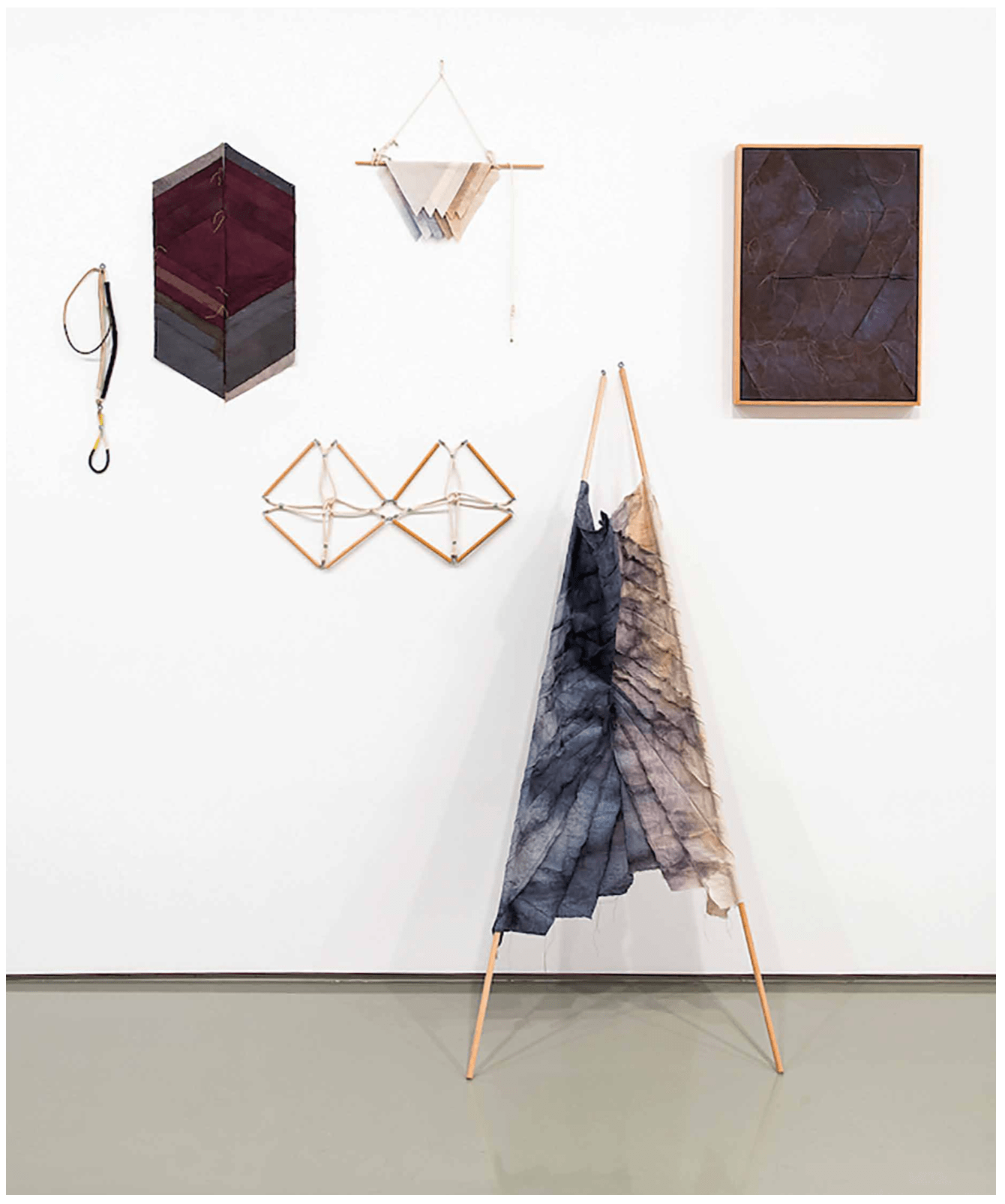 Starlie Geikie. Rapala, Standard, Tiles, Pennant, Ensign, We were river people 2012–13. © the artist, courtesy the artist.